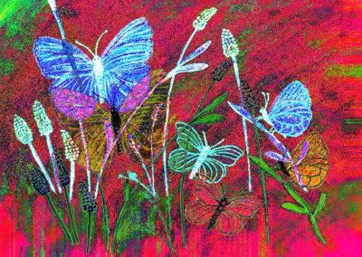ButterfliesRedBacgrnd