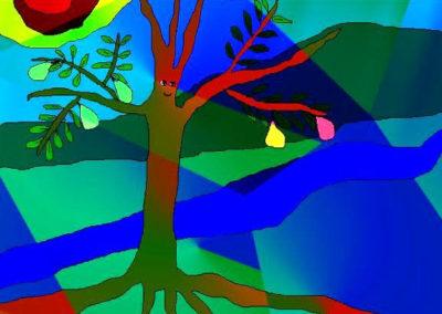 TreePlantedBlueRays