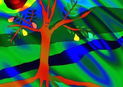 TreePlantedOvalRays